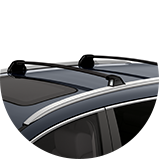 2017 CR-V Touring Exterior 3/4 front driver crossbars.