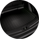 2017 CR-V Touring 3/4 rear driver cargo tray icon.