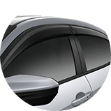 2017 Civic Hatchback Accessories door visors icon
