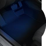 Consola iluminada interior del Civic Hatchback EX 2017