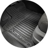 Detail Shot Of All Season Black Floor Mats Icon