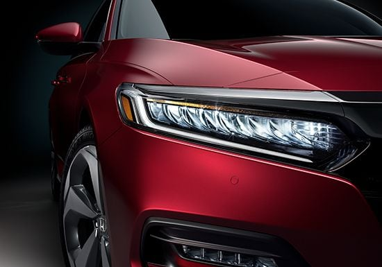 Full Led Headlights On 2019 Honda Accord Touring 2 0t In Modern Steel Metallic