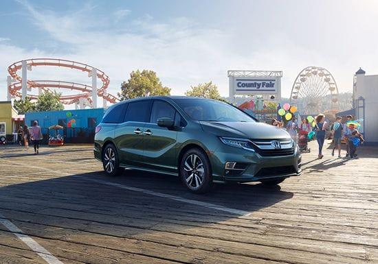 Exterior de la minivan familiar Honda Odyssey2019