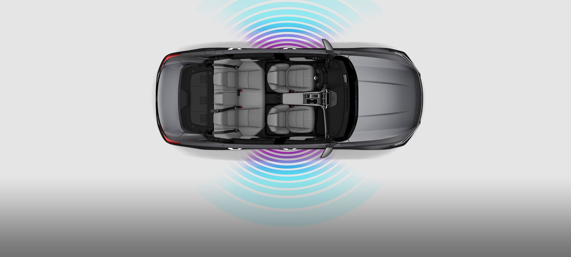 Overhead of 2019 Honda Accord Touring 2.0T with illustrated Wi-Fi signal waves.