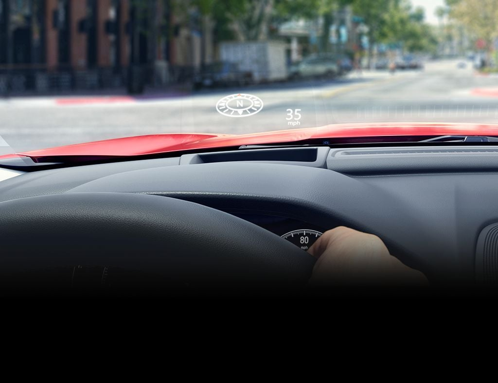 Detail shot of the Head-Up Display on the 2019 Honda Accord Touring 2.0T.