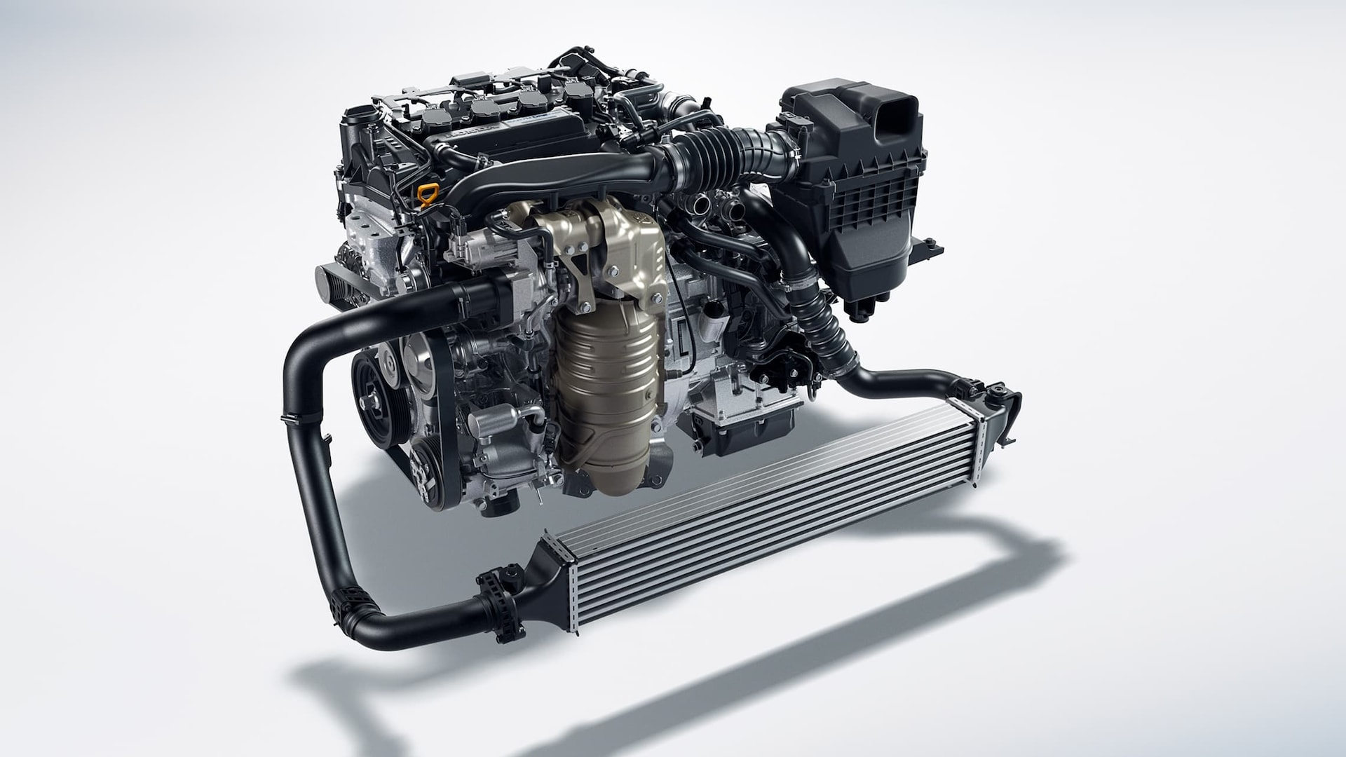 1.5-liter turbocharged and intercooled 4-cylinder engine for the 2020 Honda Civic Touring Sedan.