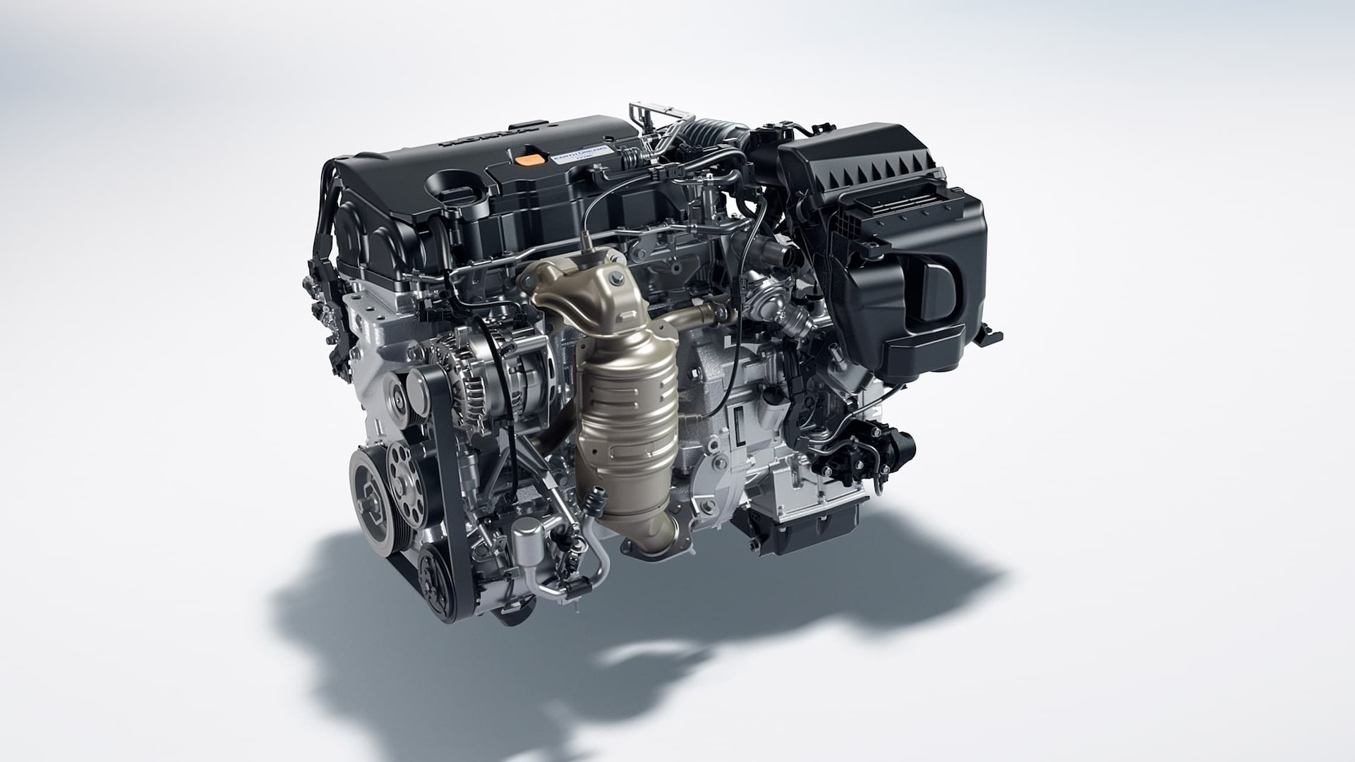 2.0-liter, 4-cylinder engine detail in the 2020 Honda Civic LX Sedan.