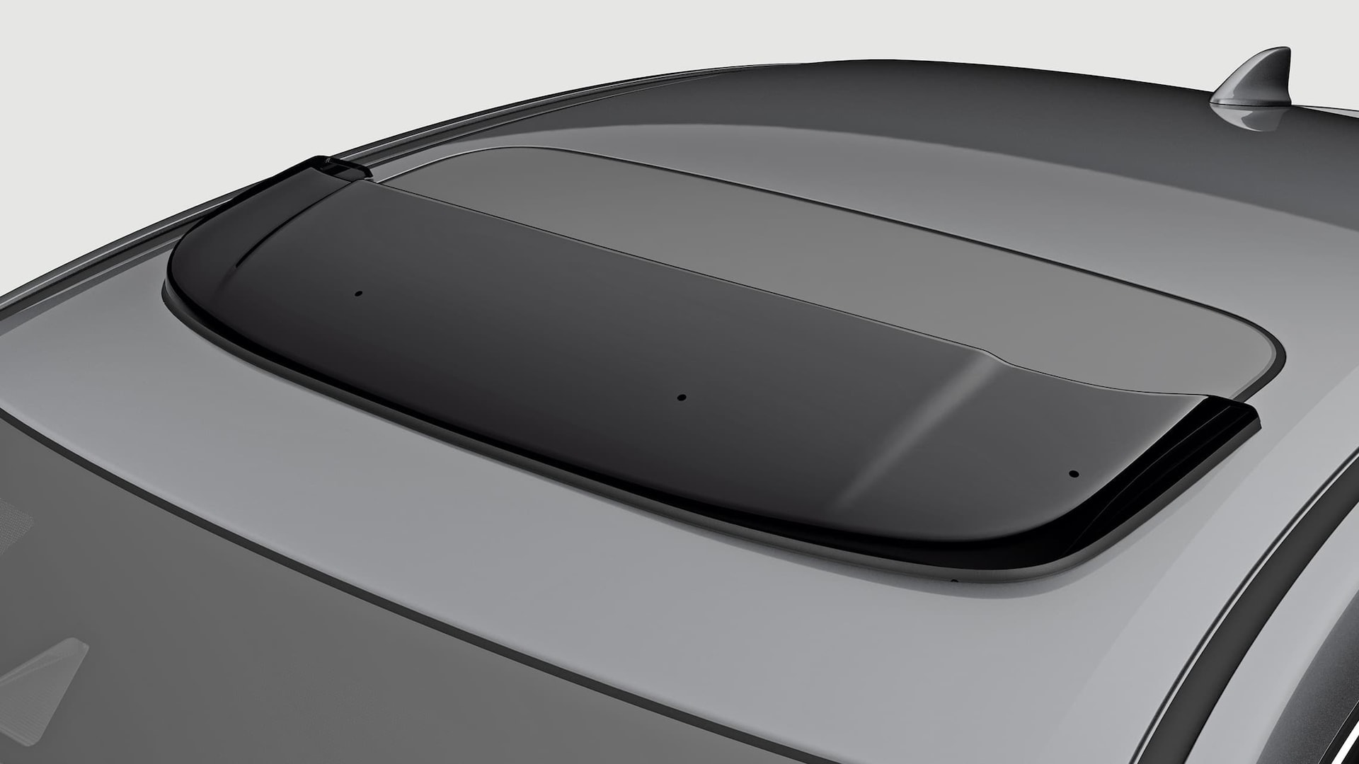 Moonroof visor detail on 2019 Honda Civic Sedan in Modern Steel Metallic.