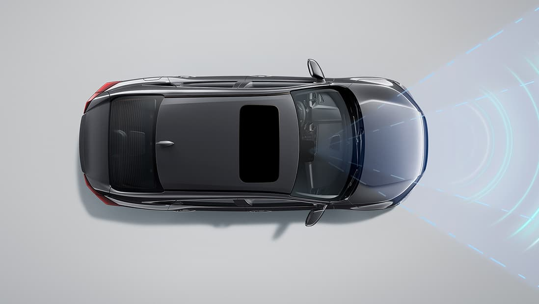 Demonstration of the Honda Sensing® Lane Keeping Assist System feature. Plays video. Opens a dialog.