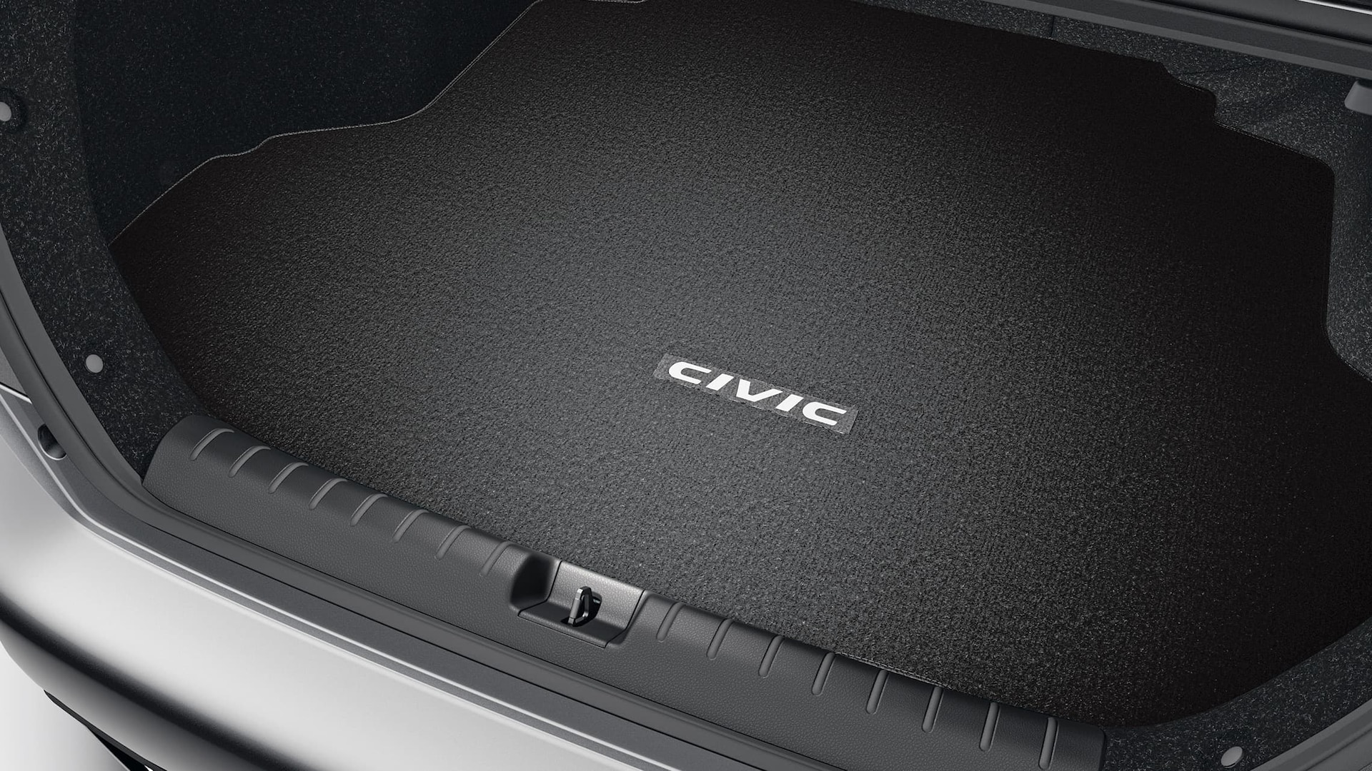 Cargo tray mat detail in the 2020 Honda Civic Sedan.