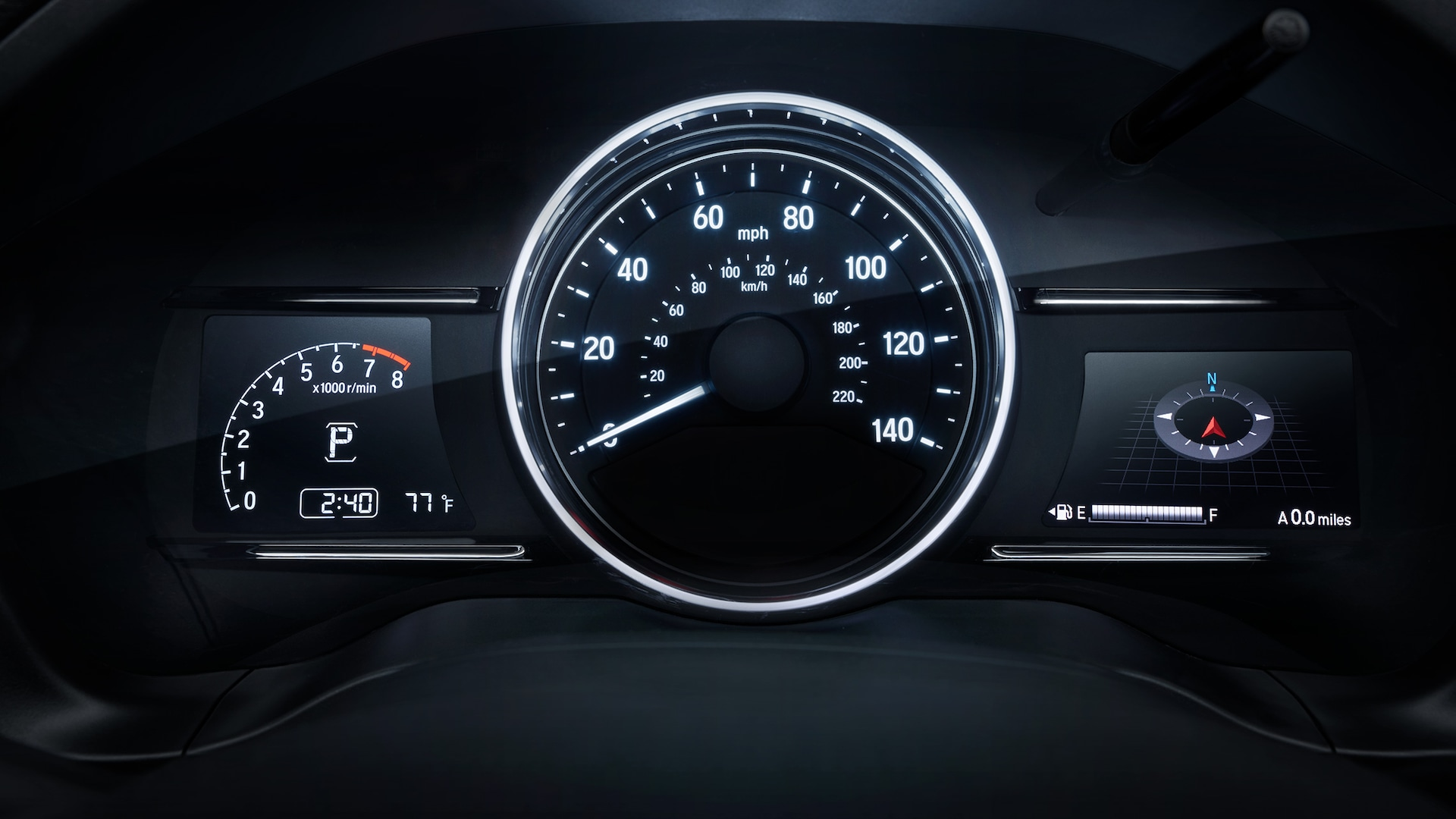 Driver Information Interface detail in the 2019 Honda HR-V Touring.