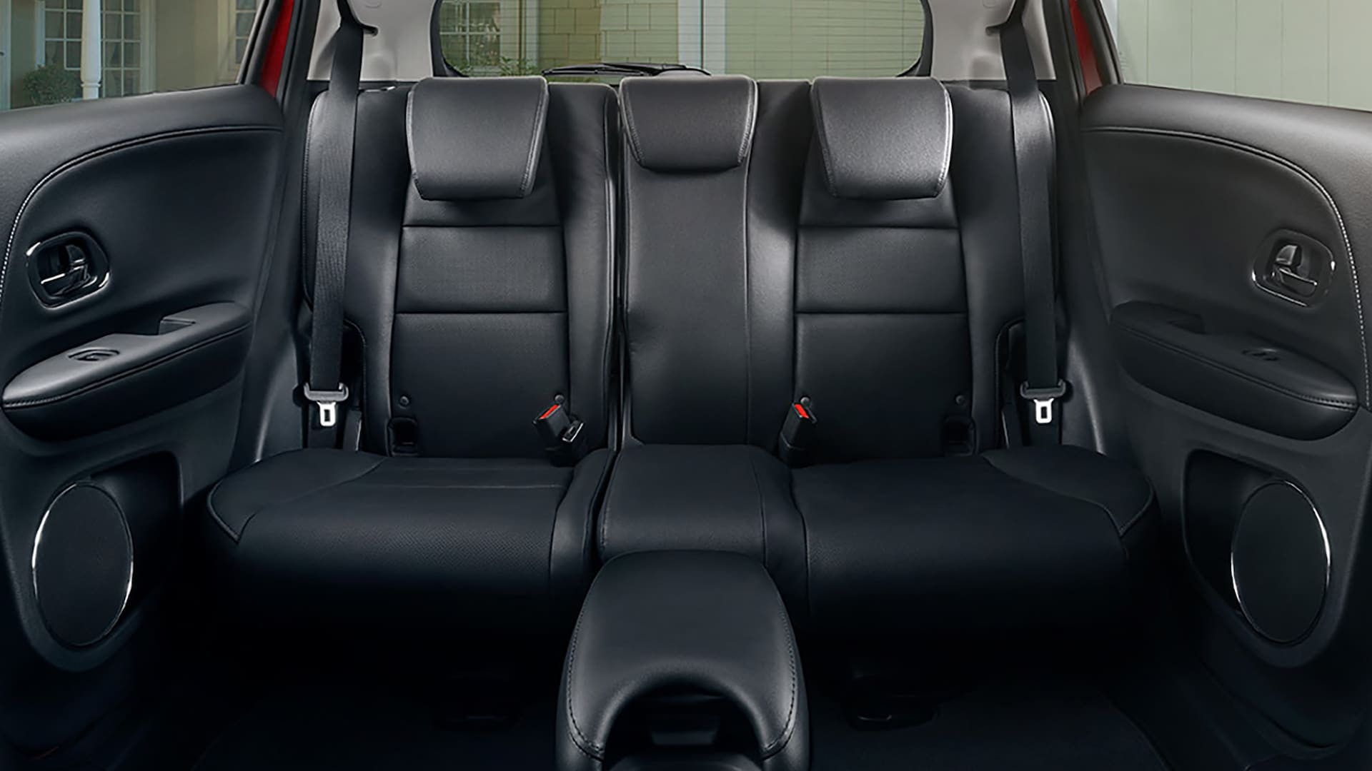 Interior view of 2nd–row Magic Seat® detail in the 2019 Honda HR-V Touring in Black Leather.
