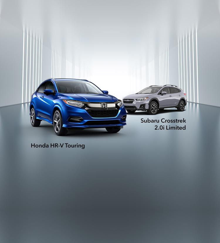 2019 Honda HR-V Vs. 2019 Subaru Crosstrek Comparison