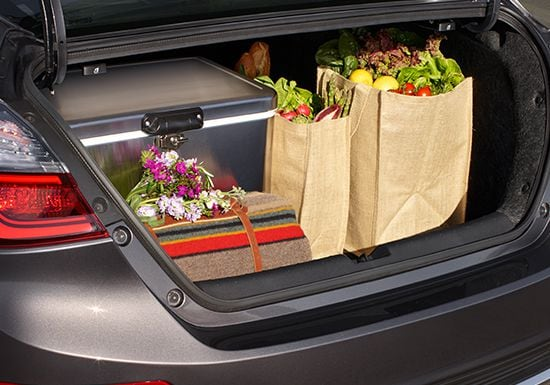 2019 Insight open cargo space.