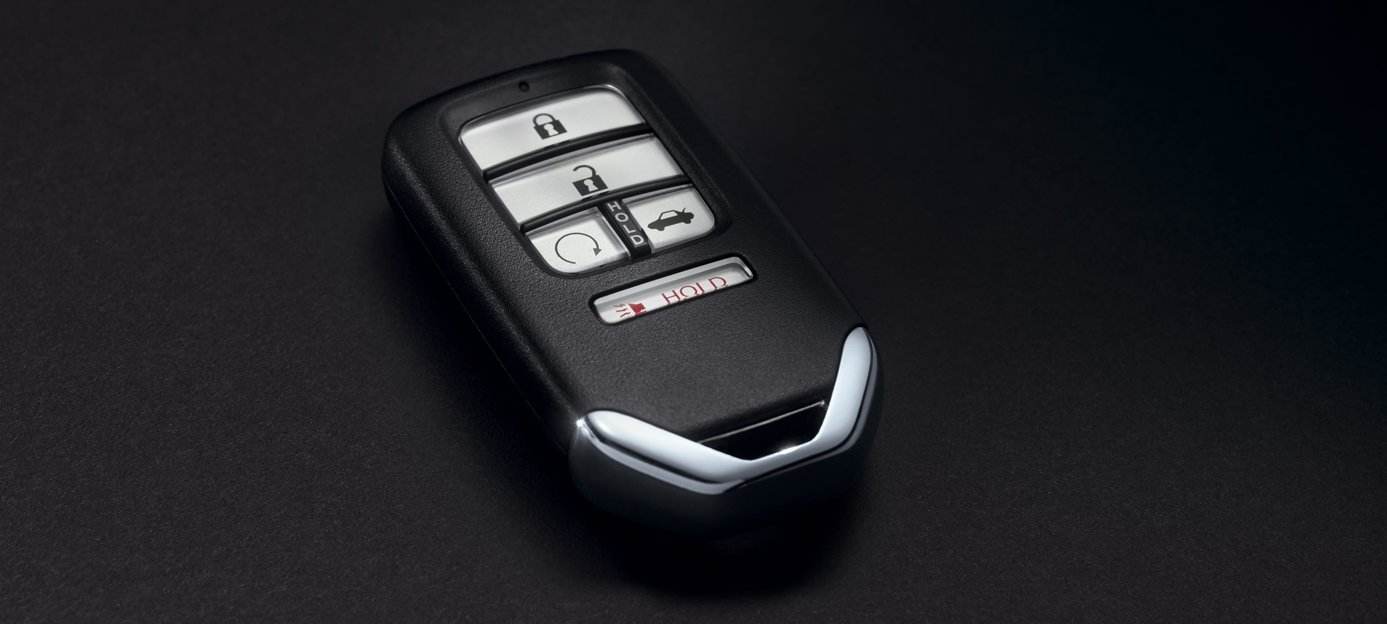 Key fob detail with remote engine start on 2020 Honda Insight EX.