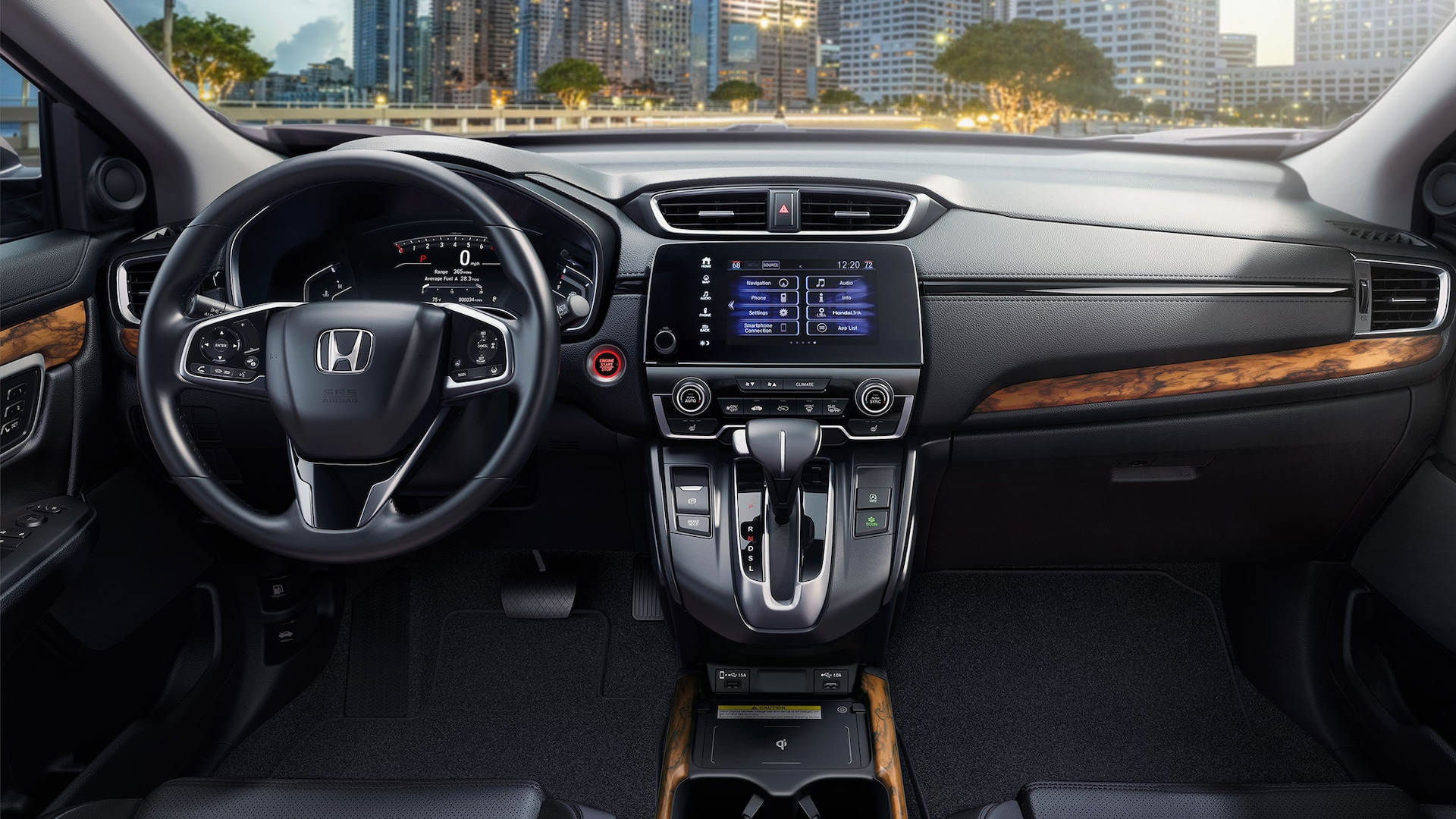 Interior view of instrument panel in the 2020 Honda CR-V.