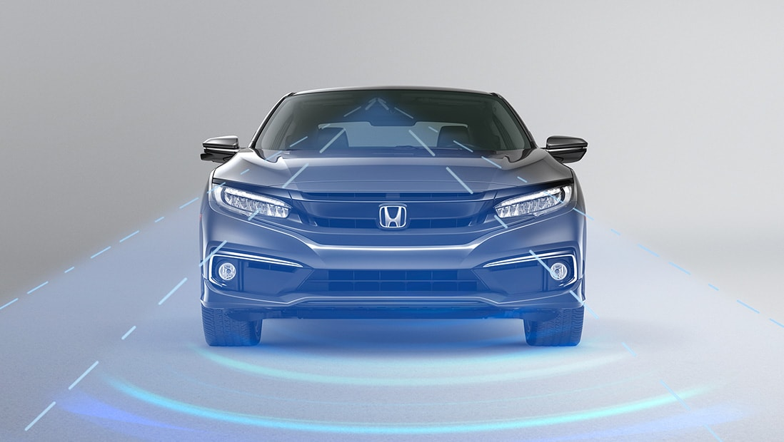 Demonstration of Honda Sensing® Adaptive Cruise Control with Low-Speed Follow – Plays video – Opens a dialog.