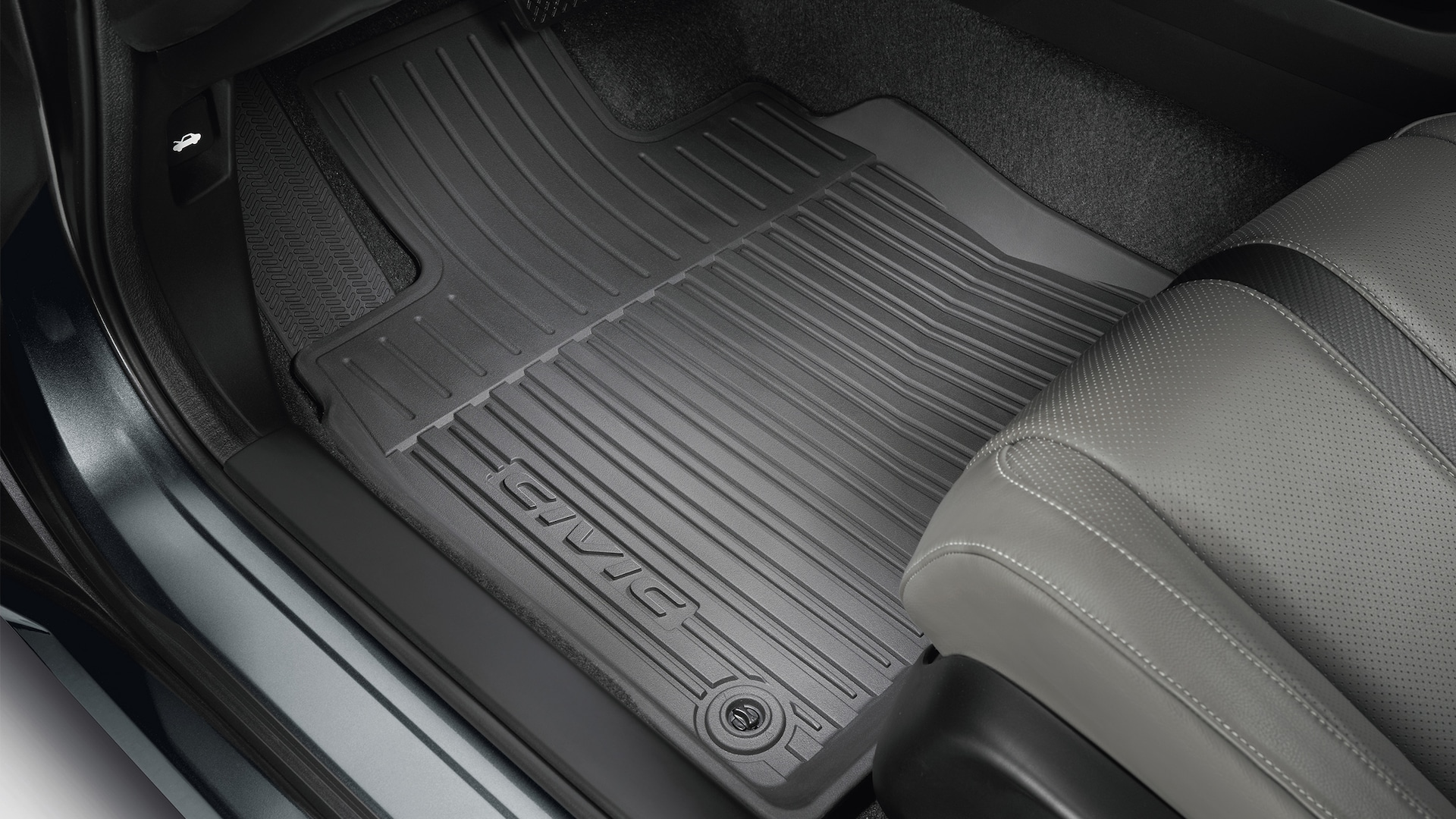 Accessory all-season floor mat detail in the 2020 Honda Civic Coupe.