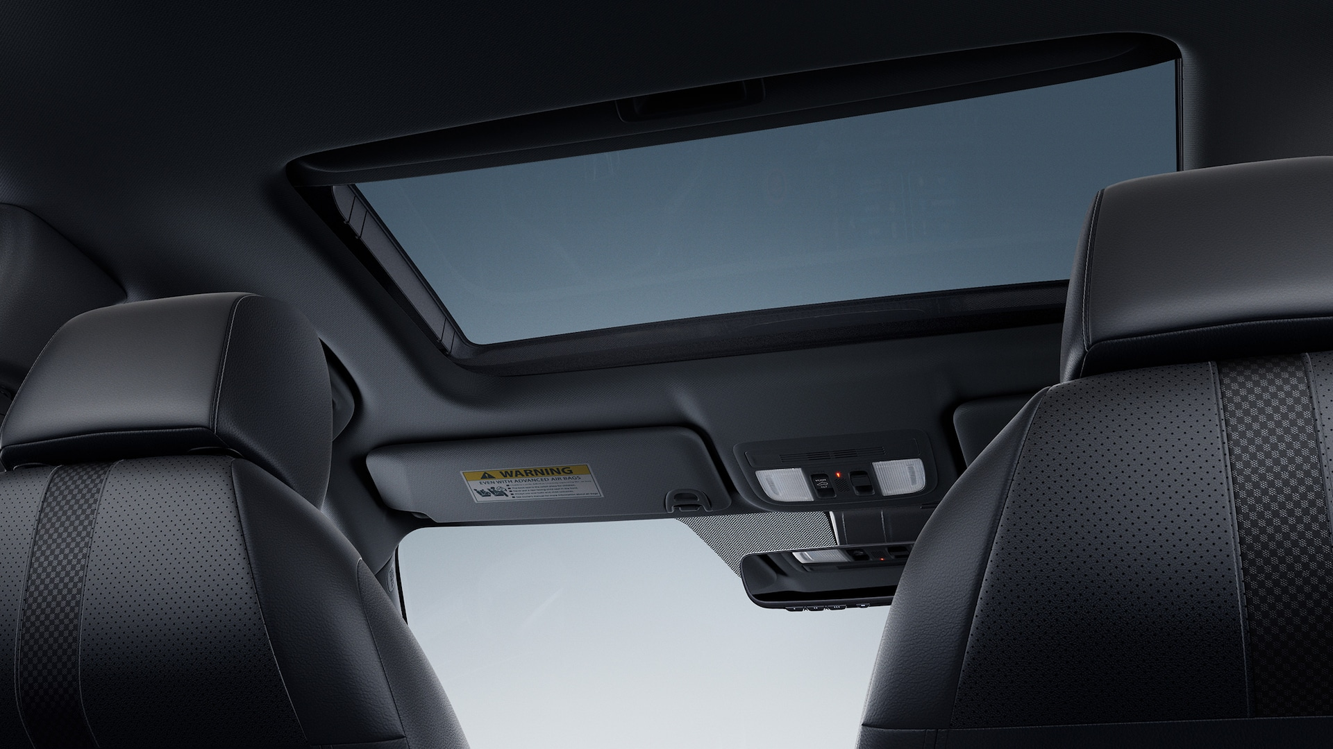 Interior view of the one-touch power moonroof in the 2020 Honda Civic Coupe.