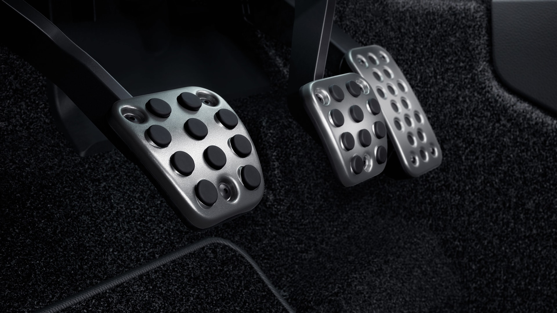 Sport pedals detail in the 2020 Honda Civic Sport Coupe.