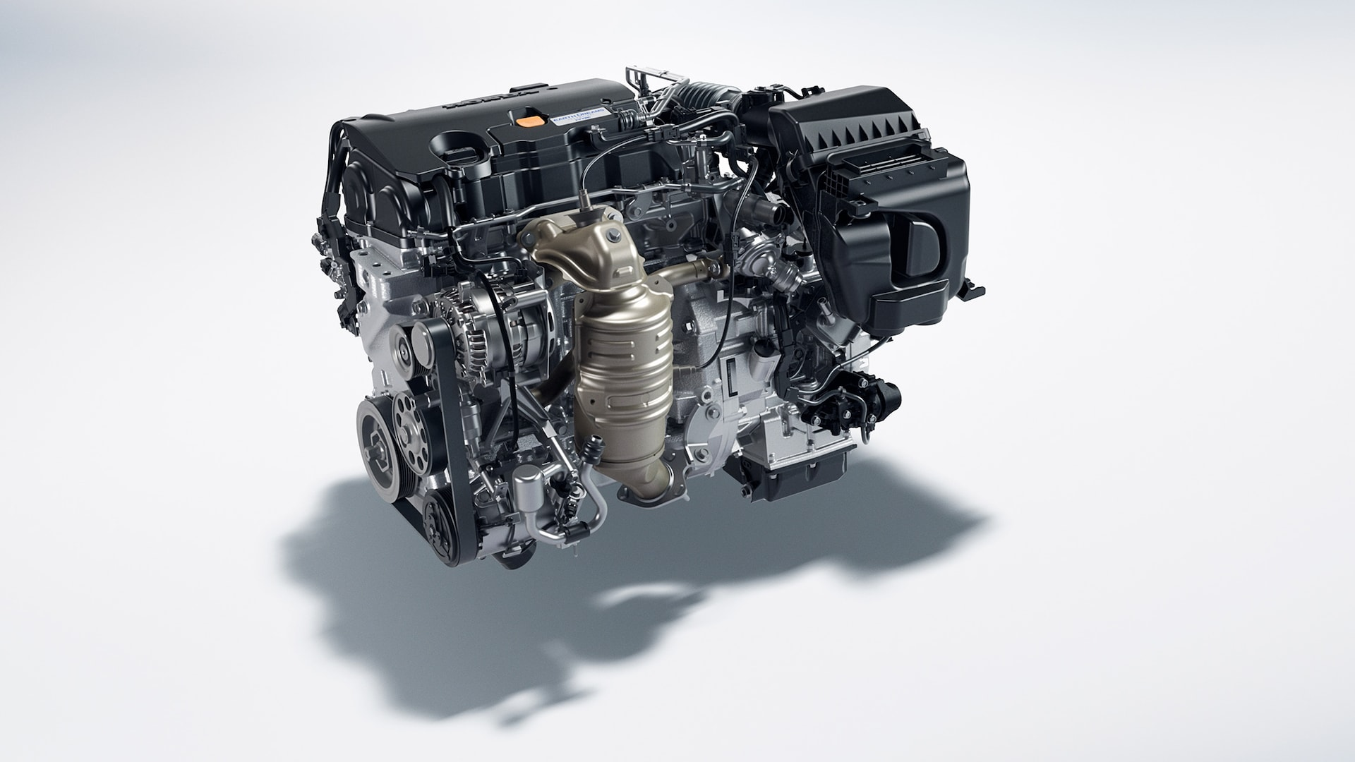 2.0-liter, 4-cylinder engine detail in the 2020 Honda Civic Coupe.