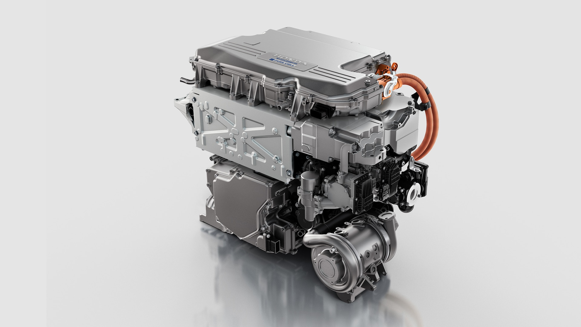 Powertrain rendering from the 2020 Honda Clarity Fuel Cell.