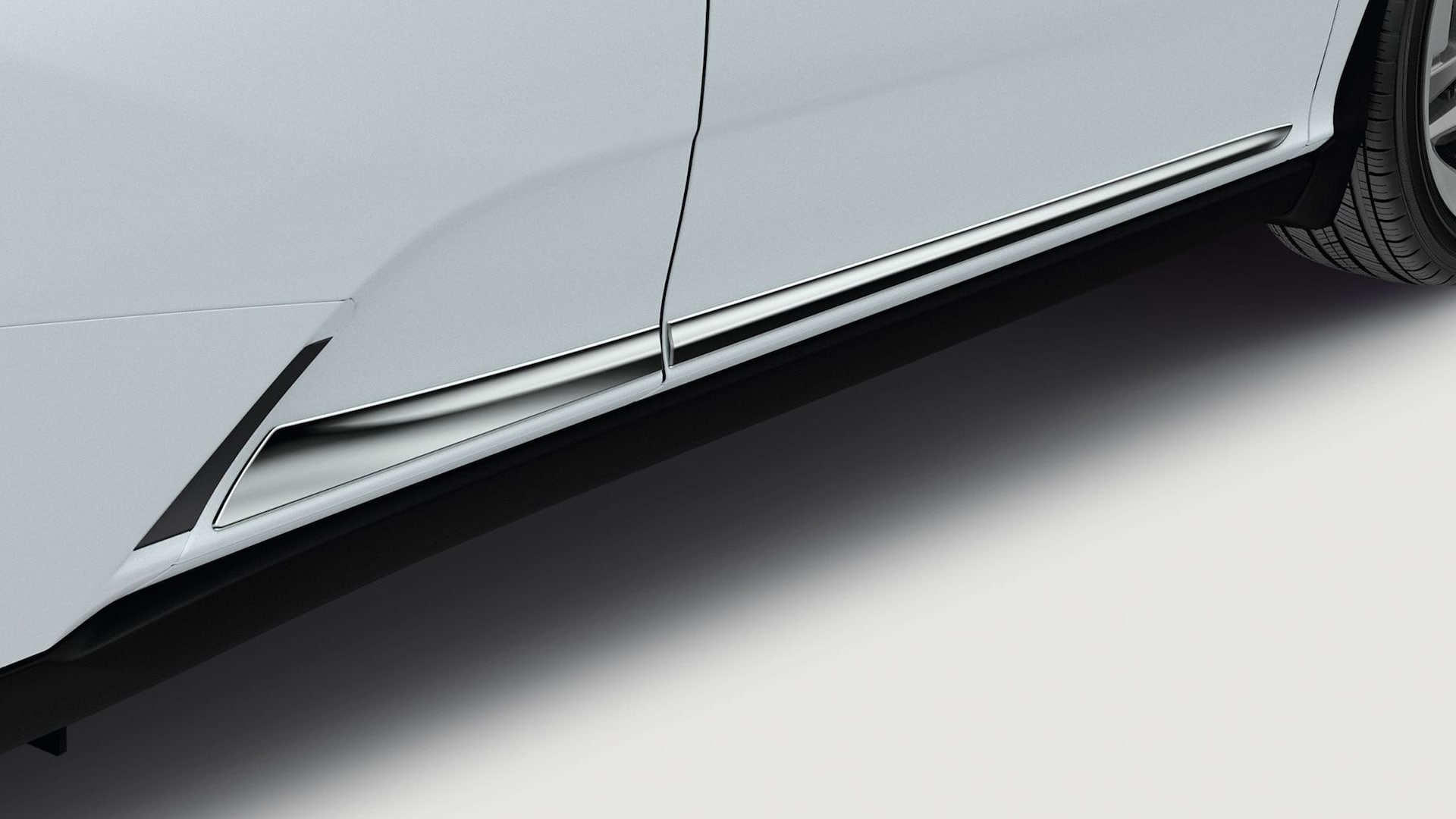 Honda Genuine Accessories chrome door trim.