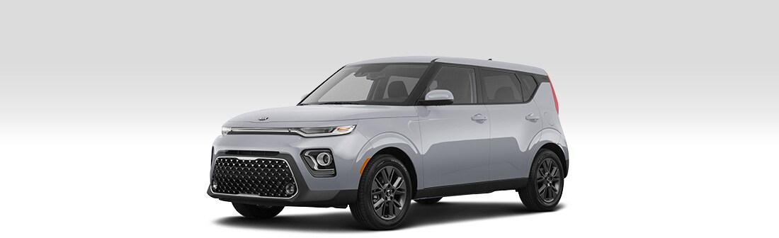 Front driver side view of 2020 Kia Soul.