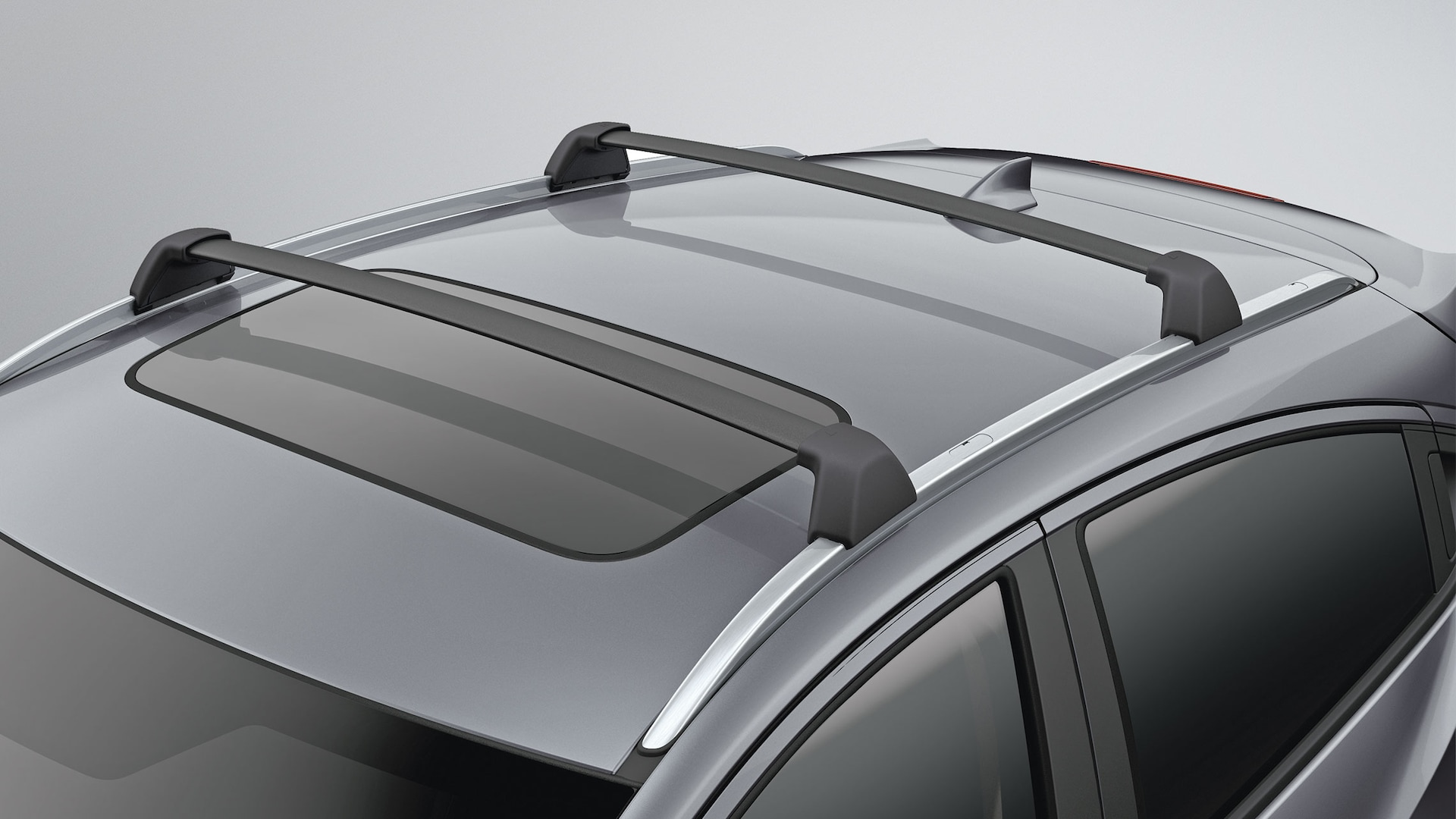 Detail view of crossbar on roof of the 2020 Honda HR-V.