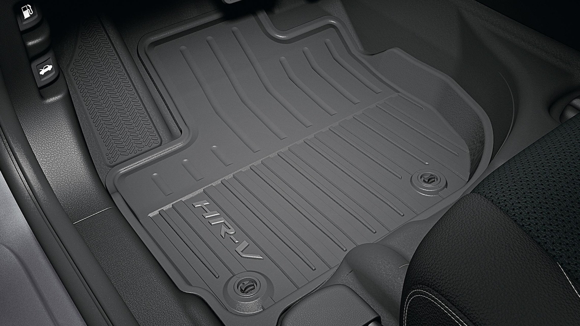 All-season floor mat detail in the 2020 Honda HR-V.