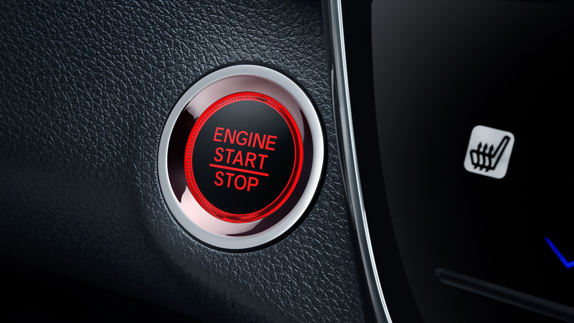 Push button start detail in the 2020 Honda HR-V Touring.