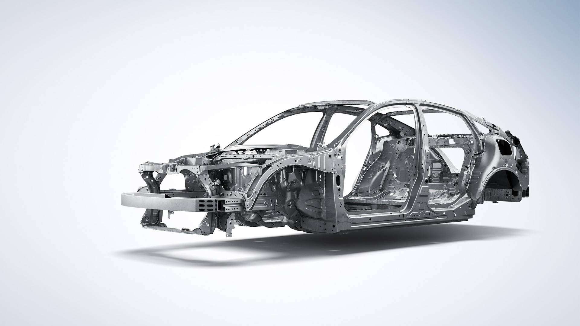 Front 3/4 driver's side view of ACE™ body structure detail on 2020 Honda Insight.