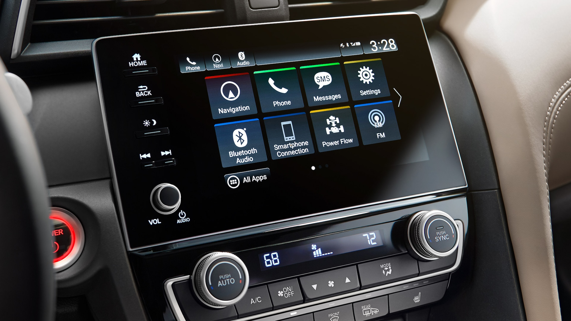 Display Audio touch-screen detail in 2020 Honda Insight.