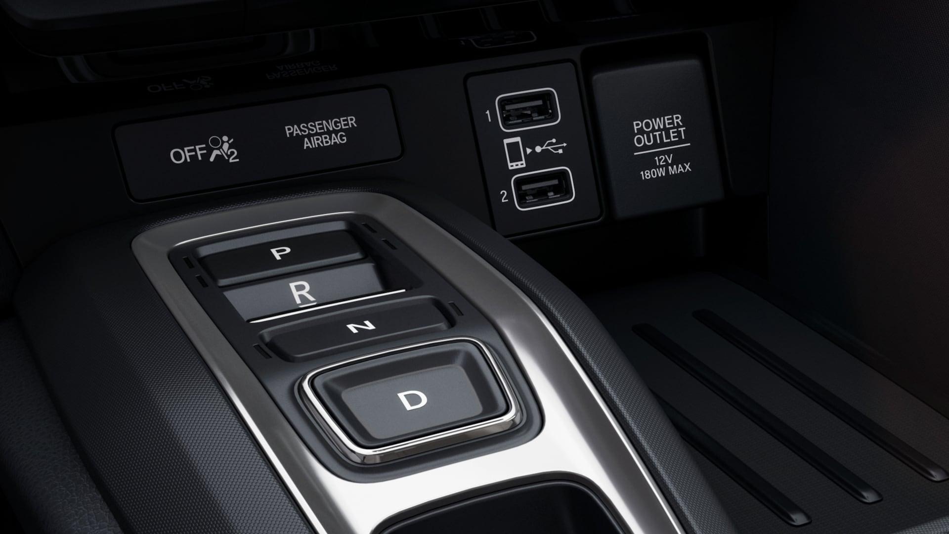 Detalle del sistema de conducción de 3modos en el Honda Insight Touring2020.