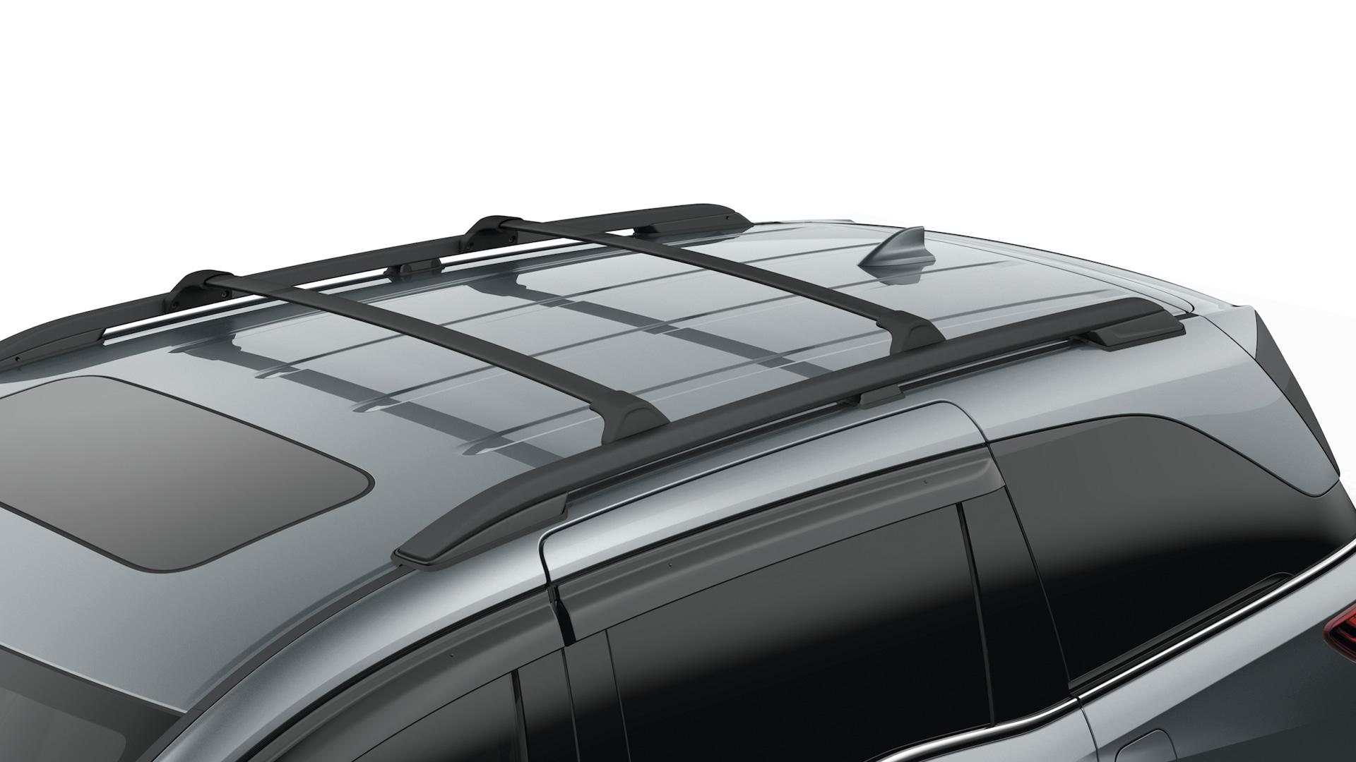 Detalle del accesorio: portaequipajes y barras transversales de la Honda Odyssey 2020.