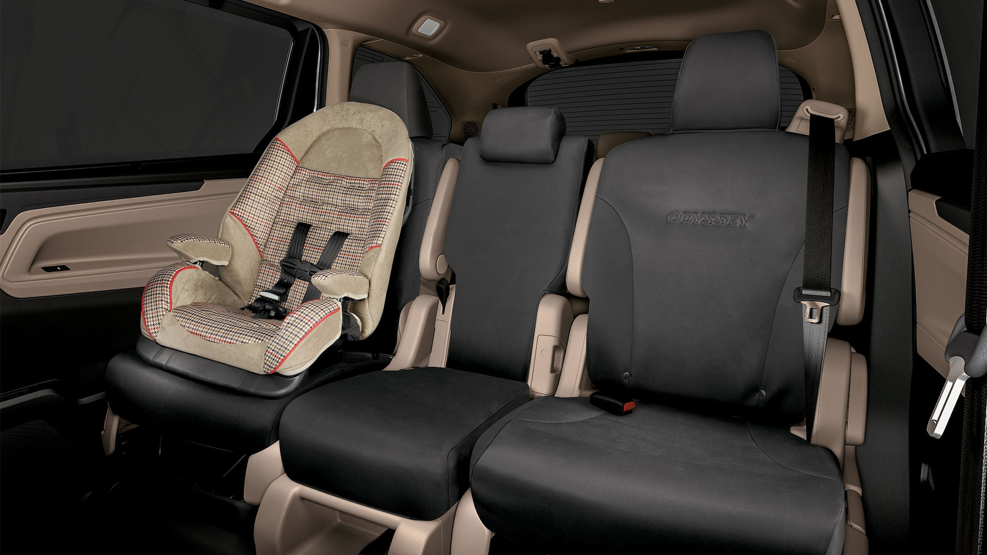 Detail of 2020 Honda Odyssey accessory 2nd- and 3rd-row seat covers.