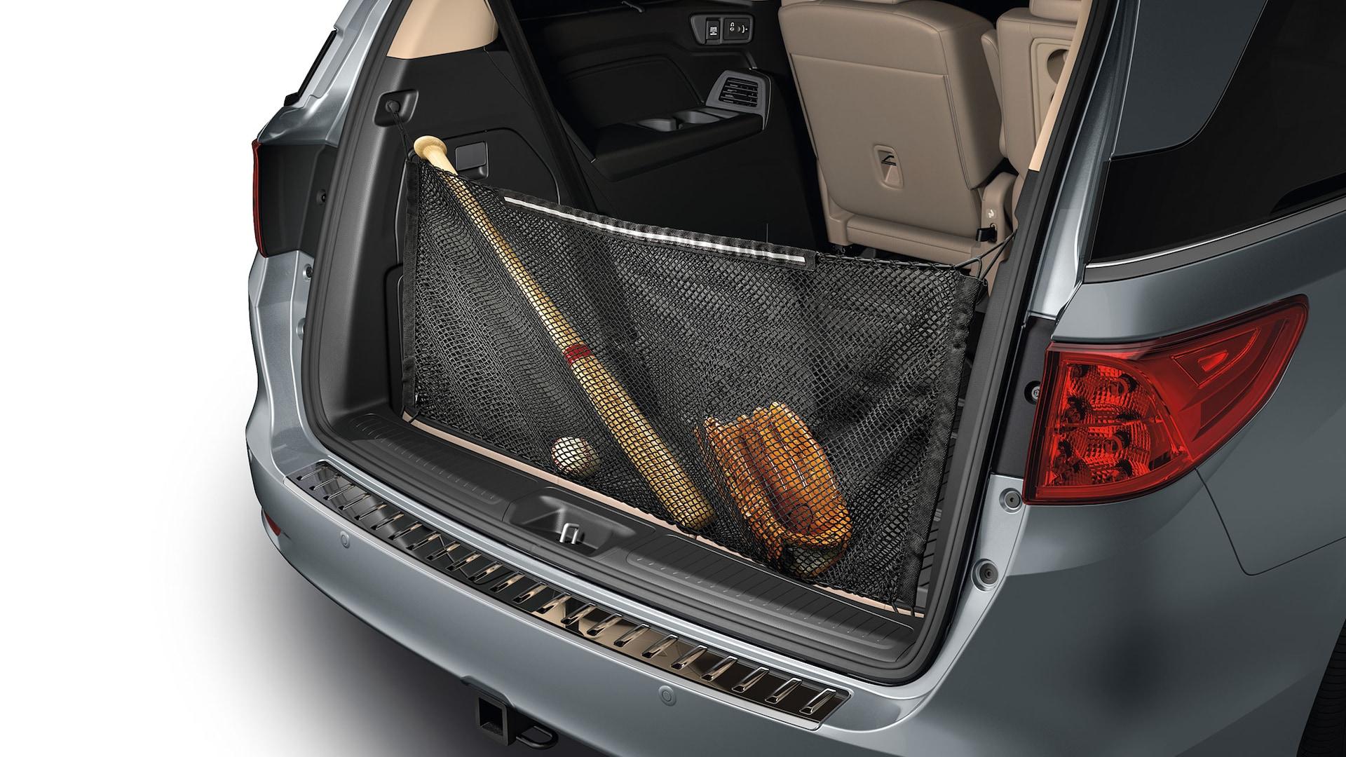 Detalle del accesorio de red para carga de la Honda Odyssey2020.