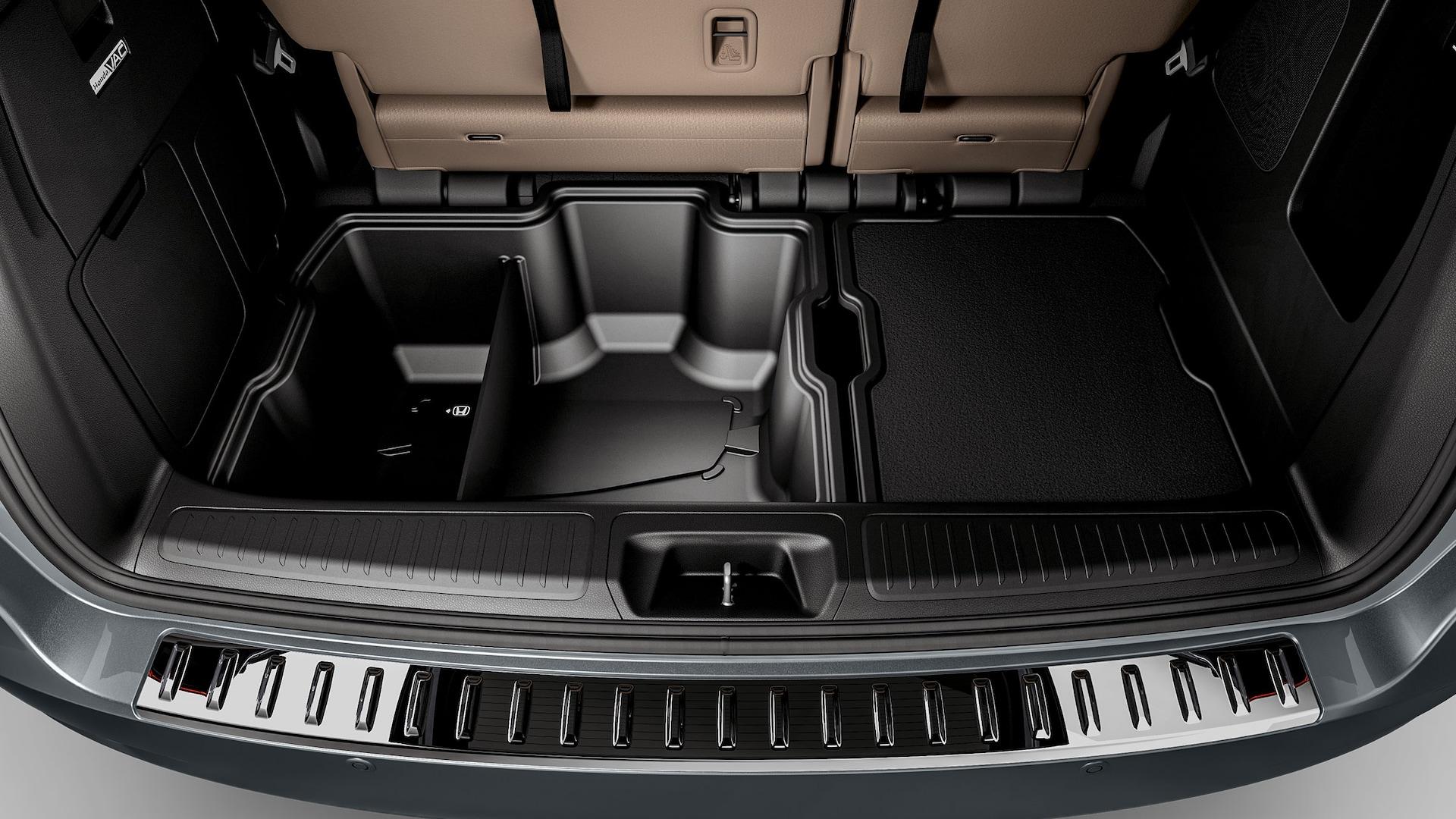 Detalle del accesorio de contenedores de carga de la Honda Odyssey2020.