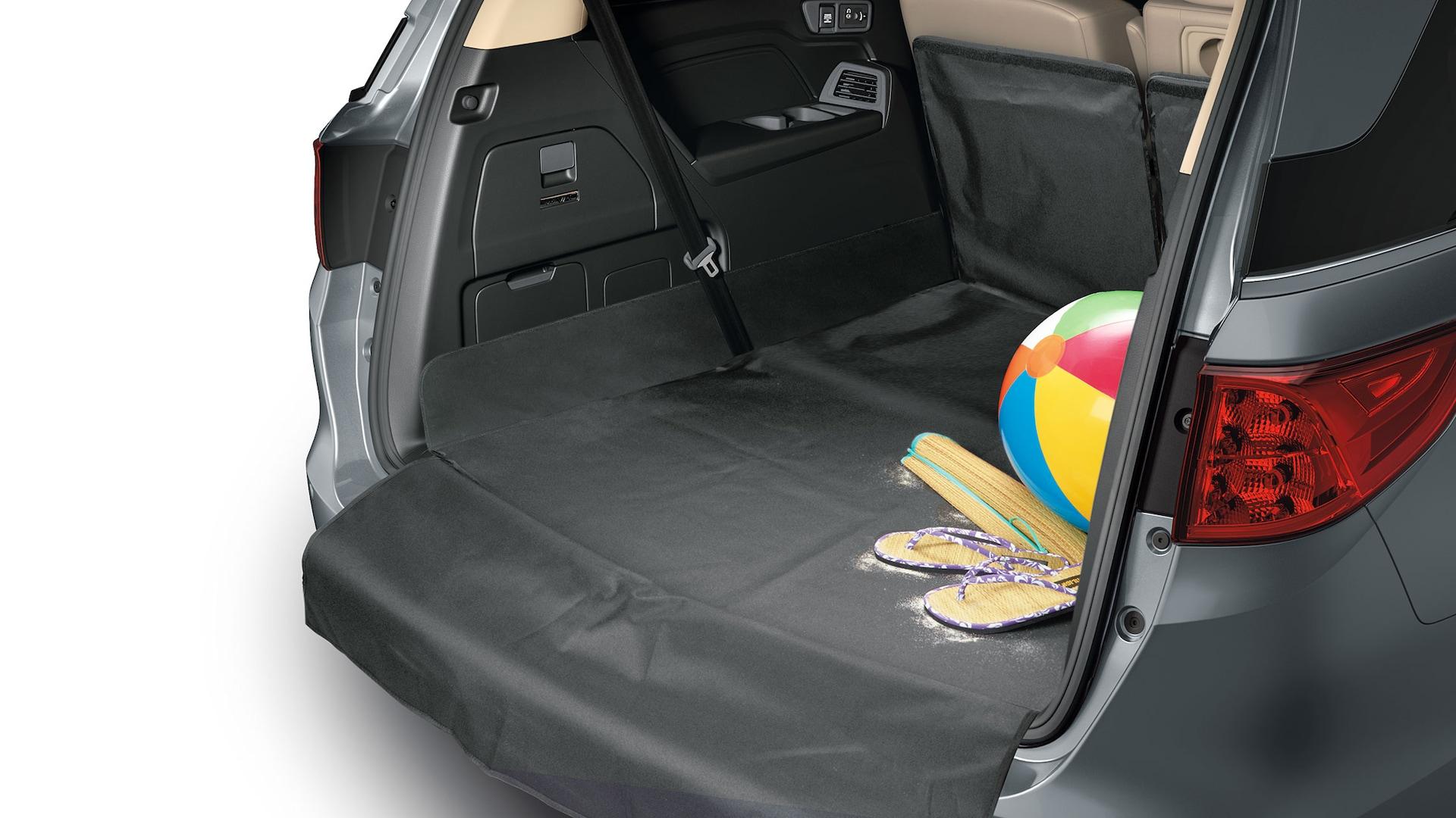 Detalle del accesorio de tapete para carga plegable de la Honda Odyssey2020.