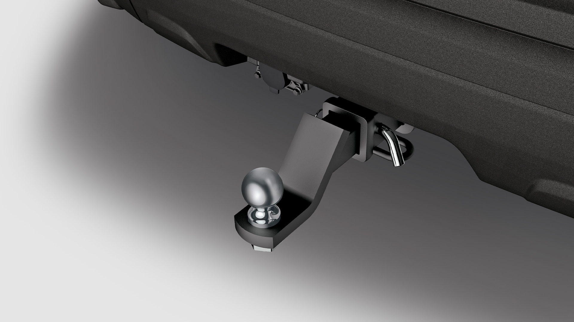 Trailer hitch detail on the 2020 Honda Passport Elite.