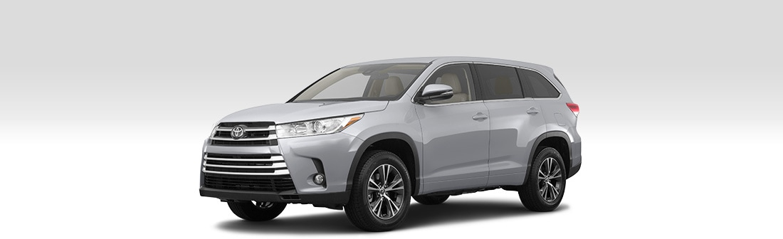 Front driver-side view of 2019 Toyota Highlander.