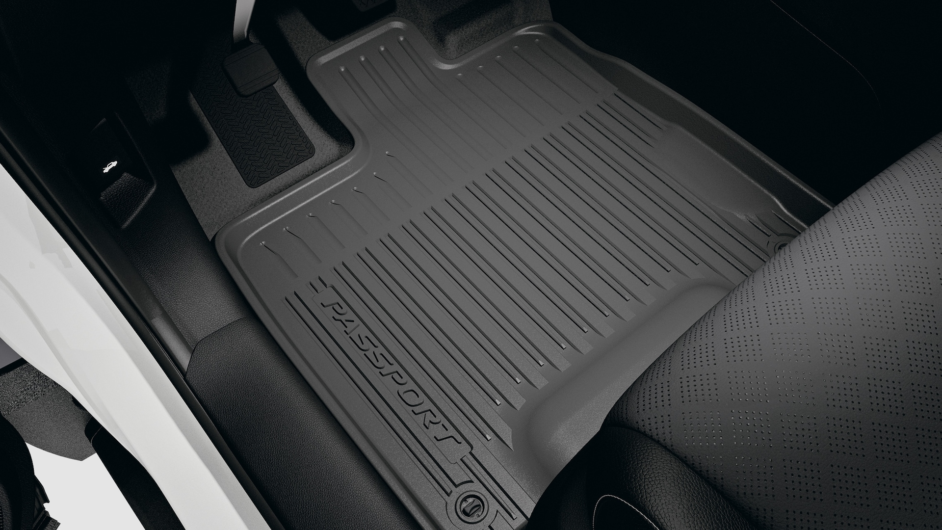 All-season floor mat detail in the 2020 Honda Passport.