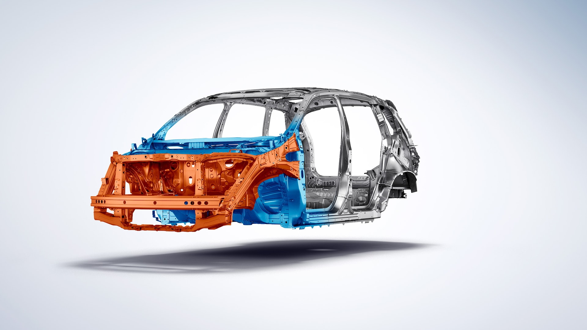 Driver-side 3/4 front cutaway view of 2020 Honda Passport with Advanced Compatibility Engineering™ body structure.