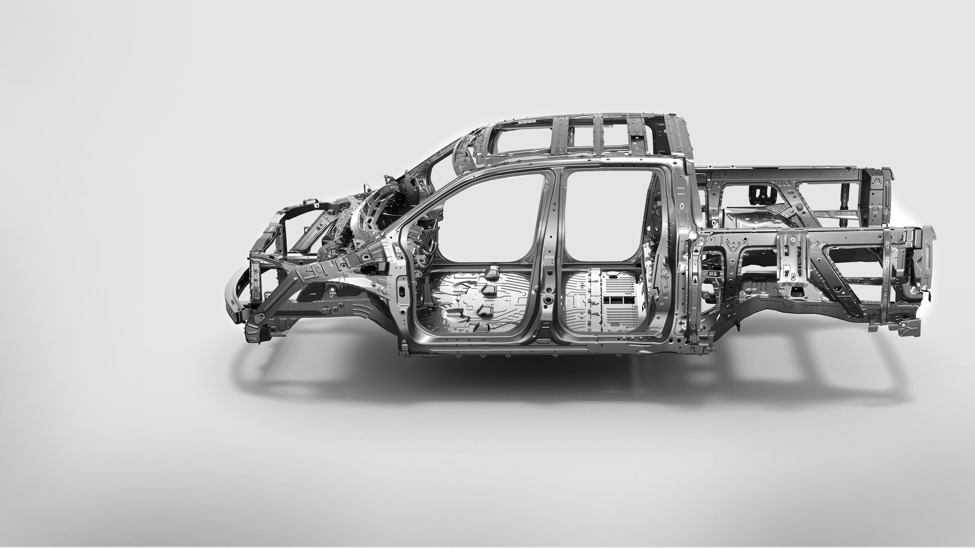 Unit-body chassis construction detail in the 2020 Honda Ridgeline.