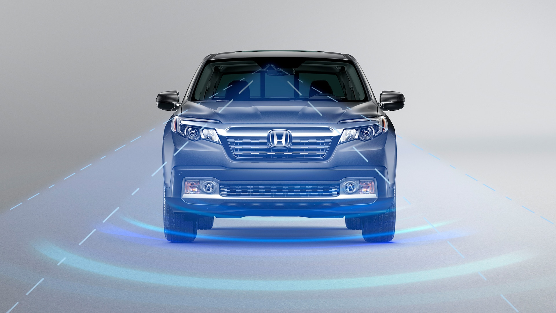 Demonstration of Honda Sensing® Adaptive Cruise Control feature. Plays video. Opens a dialog.