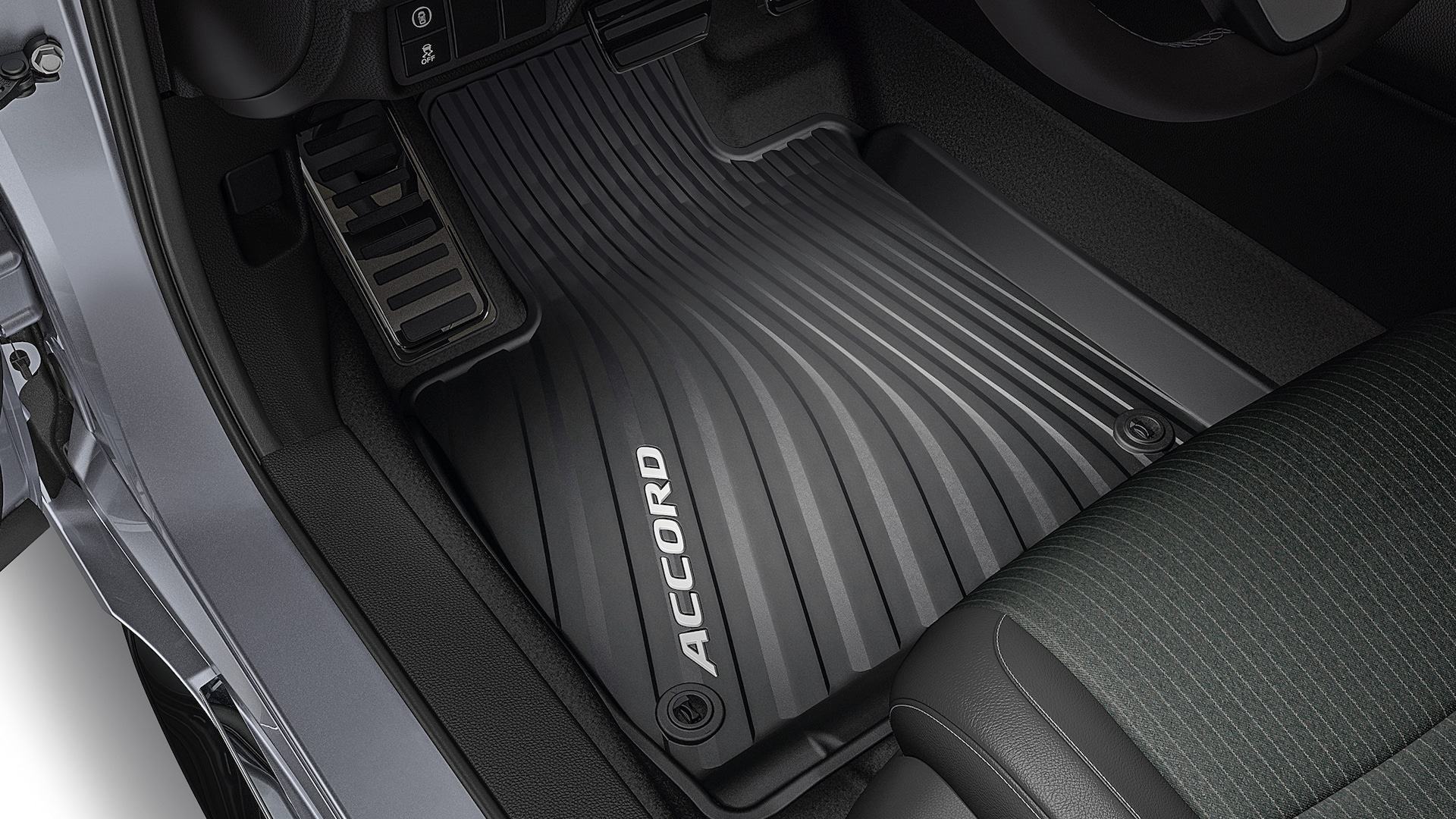 All-season floor mat accessory detail in the 2021 Honda Accord.