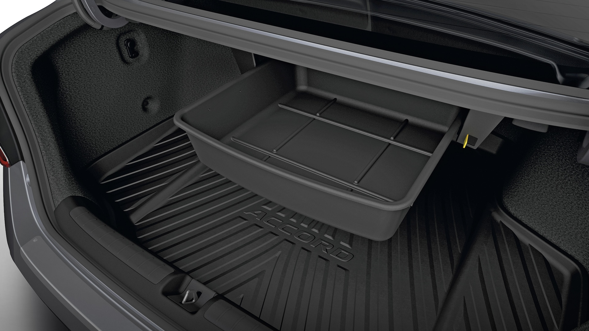 Trunk drawer accessory detail on the 2021 Honda Accord.