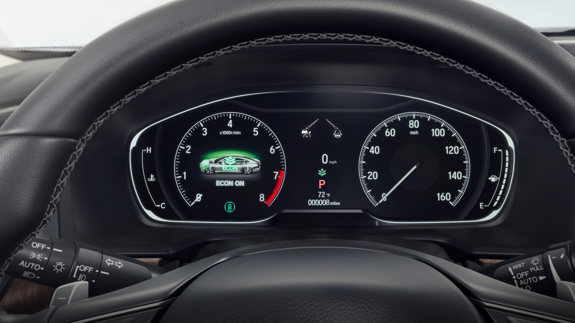 Full-color 7-inch Driver Information Interface detail in the 2021 Honda Accord Touring 2.0T.