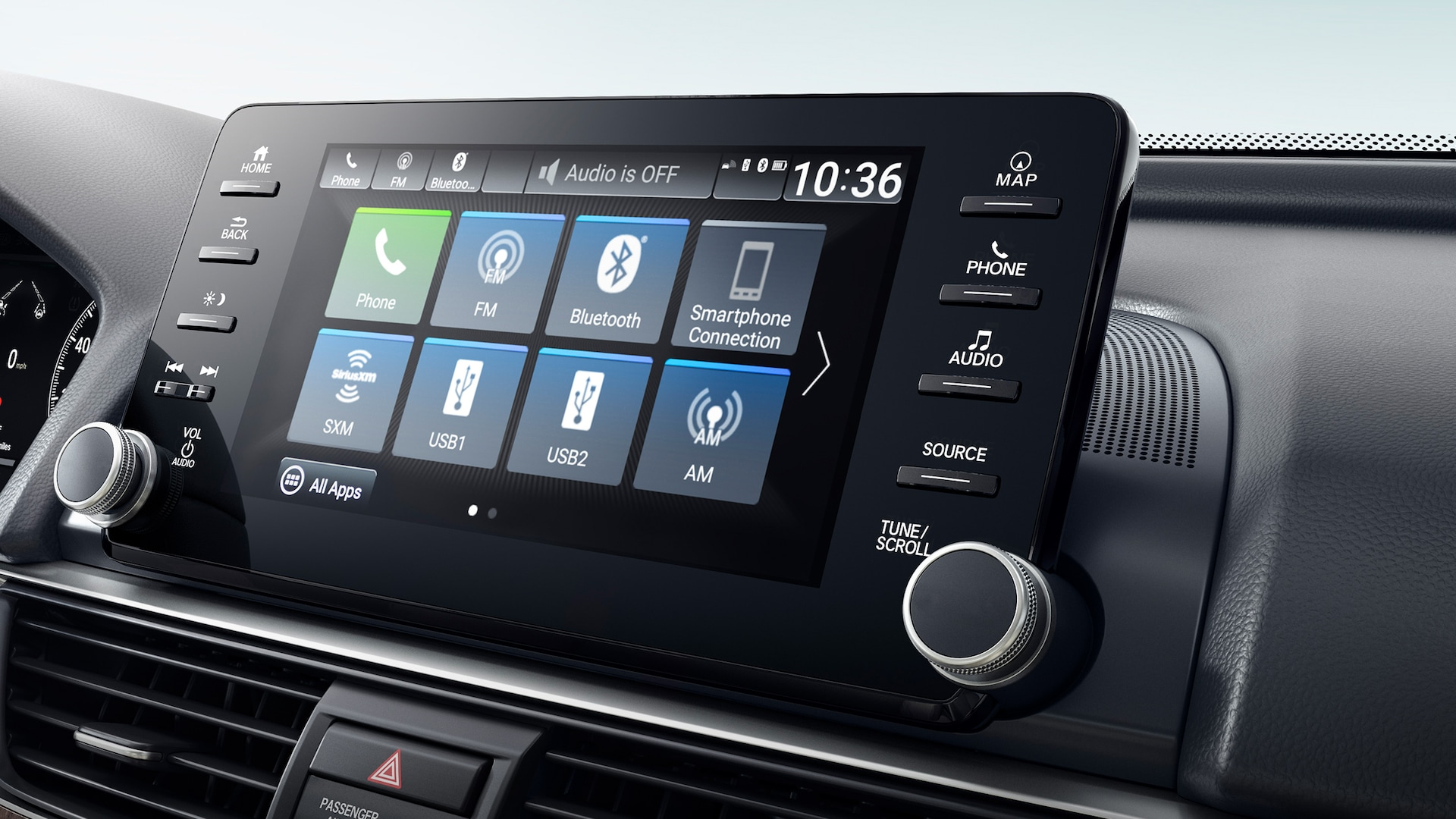 Display Audio touch-screen detail in the 2021 Honda Accord Touring 2.0T.