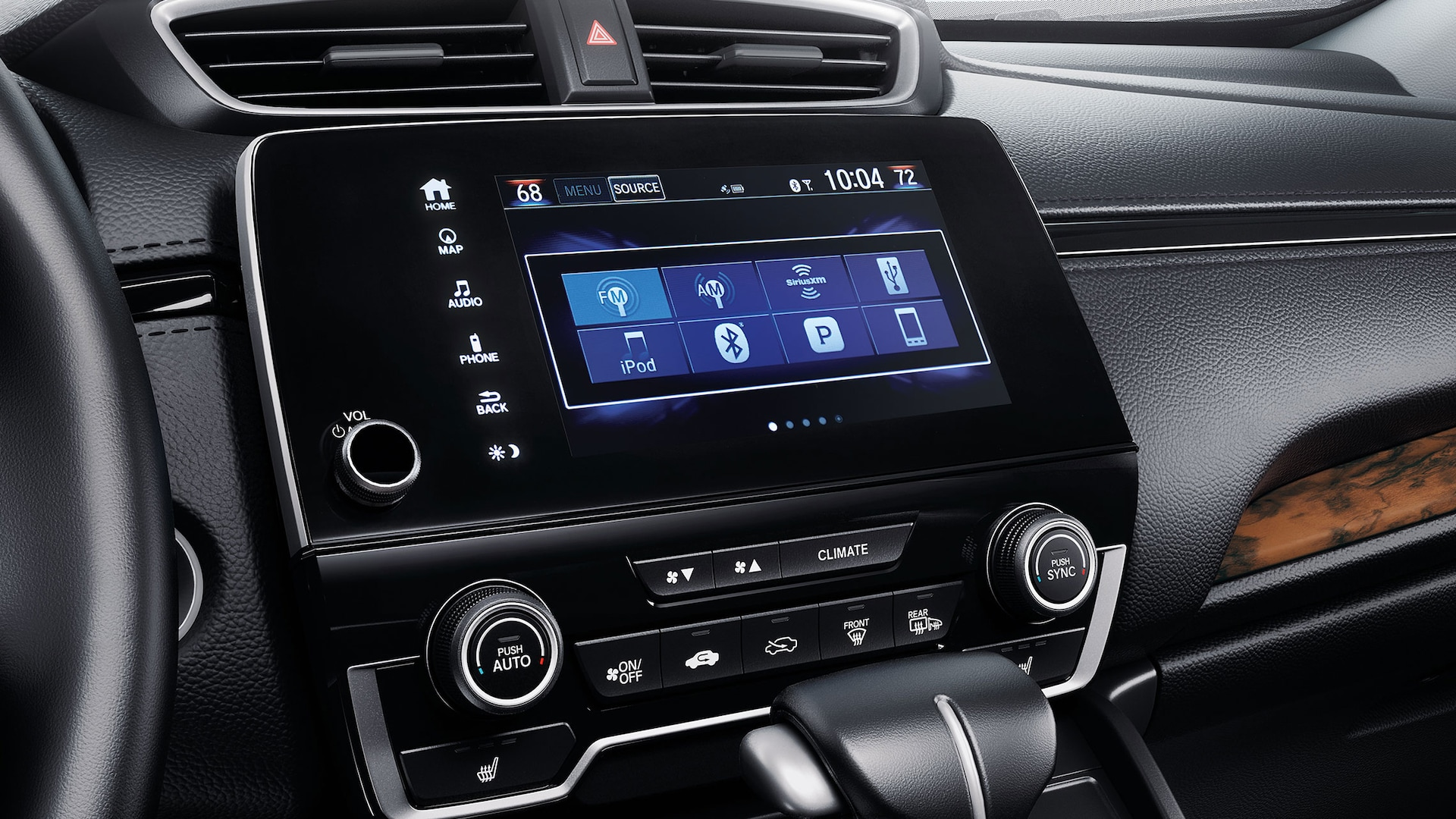 Audio menu detail on Display Audio touch-screen in the 2020 Honda CR-V.